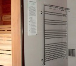 Handtuchheizkörper nach Sondermaßen gefertigt, in Sauna Therme Beuren