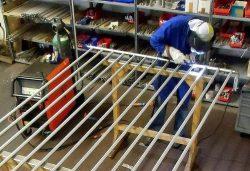 Heizkörper mit Sondermaßen für ein Treppenhaus
